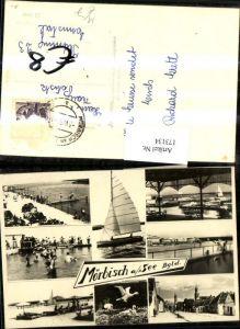 173134,Mörbisch a. See Neusiedlersee Ortsansicht Badestrand Segelschiff Mehrbildkarte