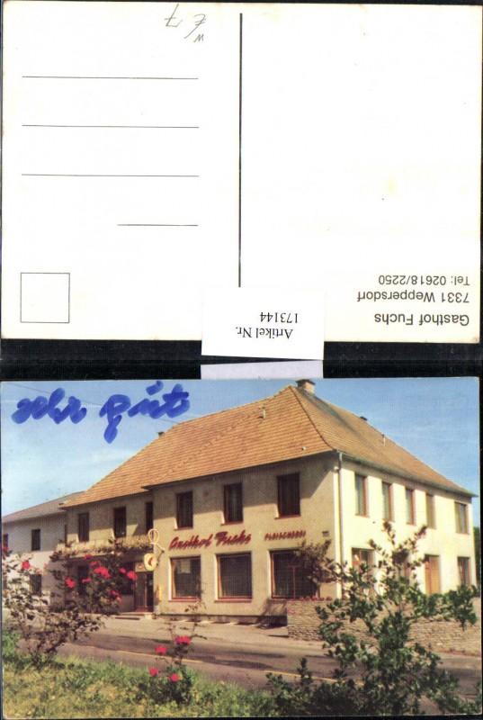 173144,Weppersdorf Gasthof Fuchs