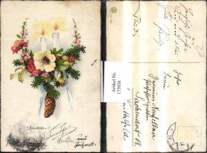 175938,Weihnachten Kerzen Blumen Tannenzweige Tannenzapfen