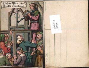 162923,Scherzkarte Scherz Humor Schandflöte Schlechte Musikanten