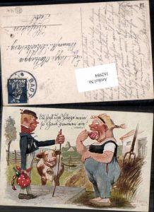 162984,Künstler AK Rudolf Köselitz Scherzkarte Scherz Humor Lebkuchen Kuh