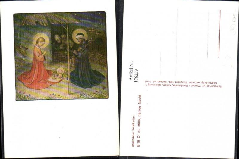 176259,Künstler AK sign. Bachlechner Maria u. Josef Heiligenschein Jesuskind Kind
