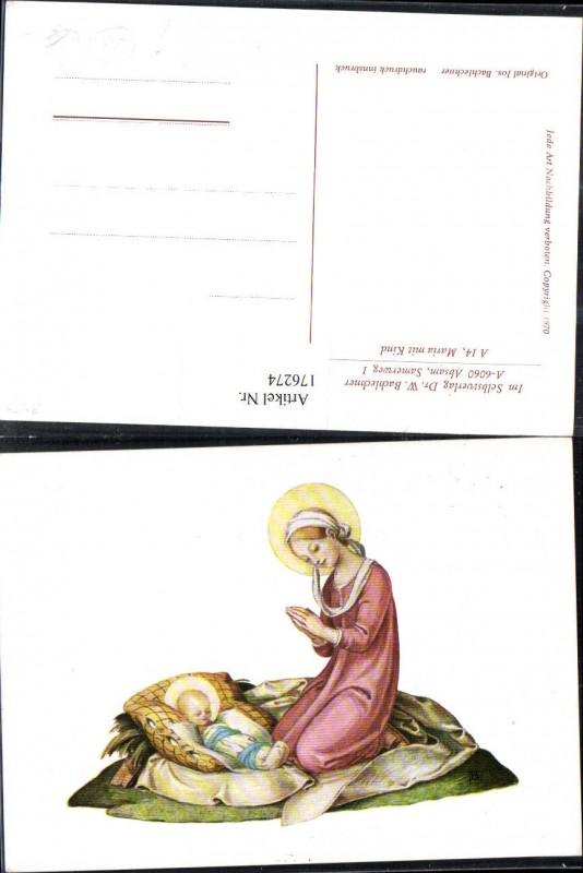176274,Künstler AK Bachlechner Maria m. Jesuskind Kind