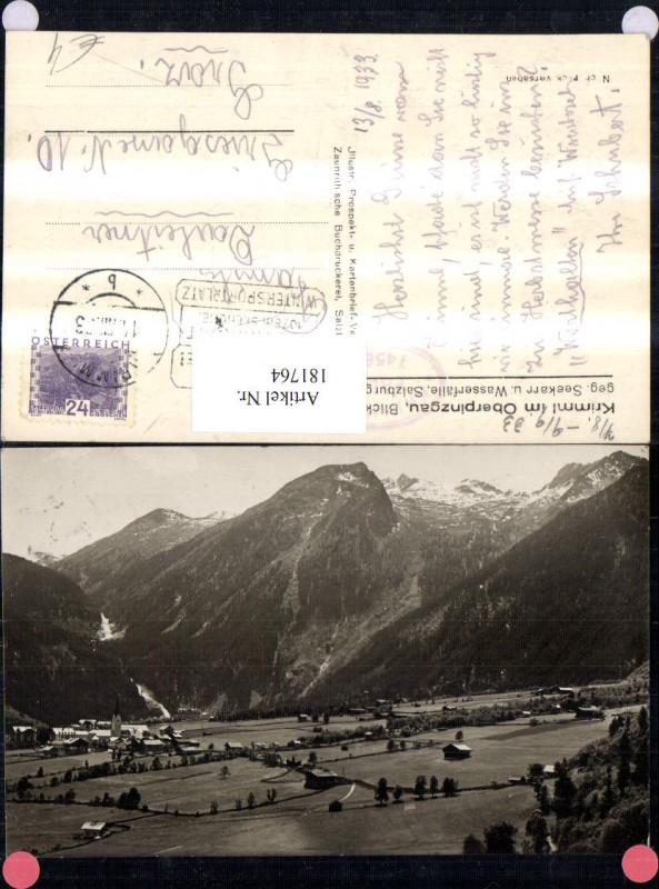 181764,Krimml im Oberpinzgau Totale Blick geg. Seekarr u. Wasserflälle