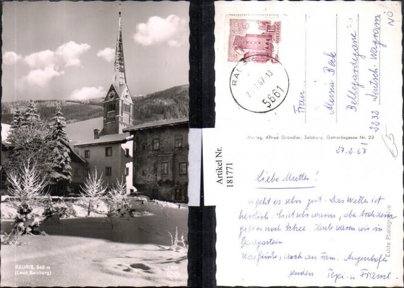 181771,Rauris Ortsansicht Kirche