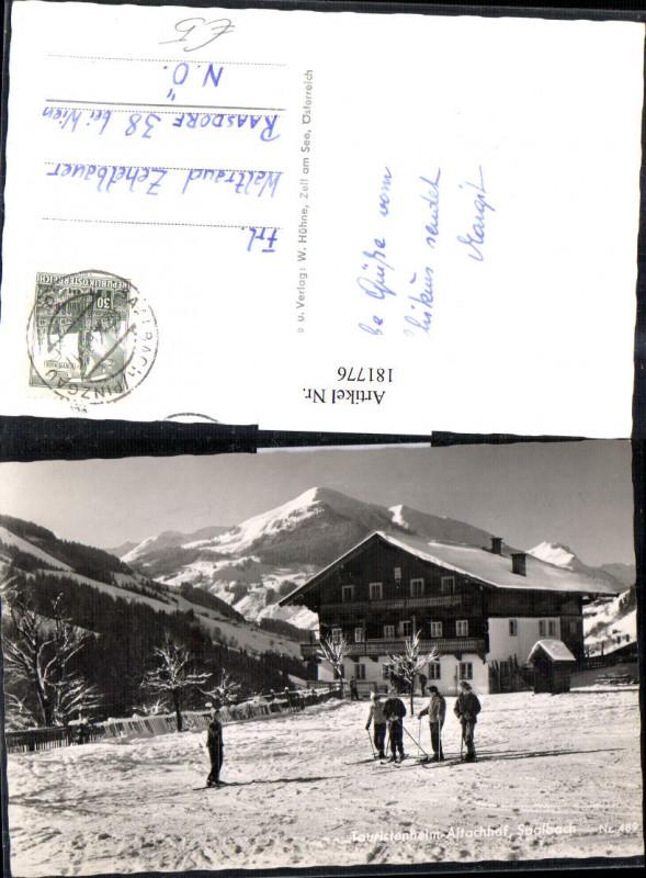 181776,Touristenheim Altachhof Saalbach Skifahrer