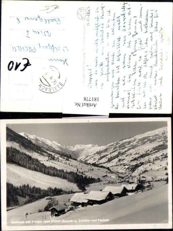 181778,Saalbach m. Vorder u. Hinter Ronach g. Zwälfer u. Penhab Totale