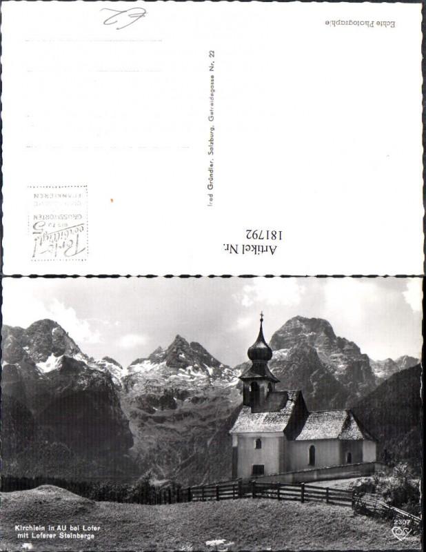 181792,Kirchlein in Au b. Lofer m. Loferer Steinberger Kirche