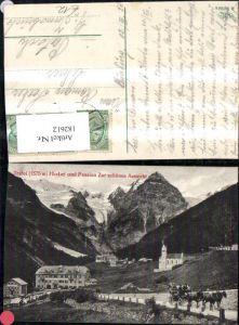 182612,Trentino Trafoi Hotel u. Pension Zur schönen Aussicht Ansicht m. Pferdekutsche