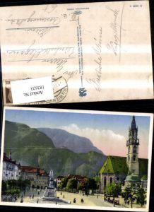 182623,Trentino Bozen Walterplatz Ansicht m. Denkmal Walter v. d. Vogelweide
