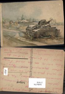 177978,Künstler AK Fritz Brauner Soldatenblätter Tank Panzer d. Wehrmacht