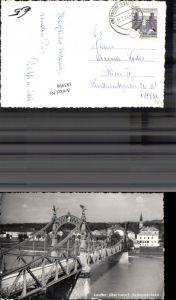 185998,Laufen Oberndorf Salzachbrücke Brücke Foto Ak
