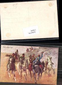 178649,Künstler AK B. Belavary Einer gegen 5 Husaren im Gefecht Pferde Patriotik