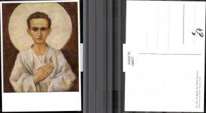 186857,Künstler AK M. Spötl Schwaz 514 Der Held Tarzisius Junge