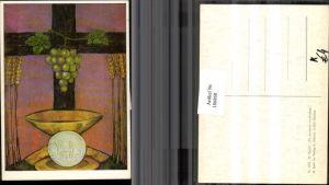 186860,Künstler AK M. Spötl Schwaz 533 Zu meinem Andenken Trauben Weizen Schüssel Kreuz