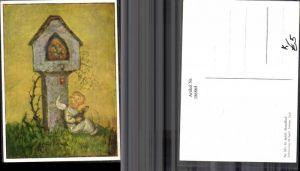 186864,Künstler AK M. Spötl Schwaz 341 Abendlied Engel m. Gitarre Andenken