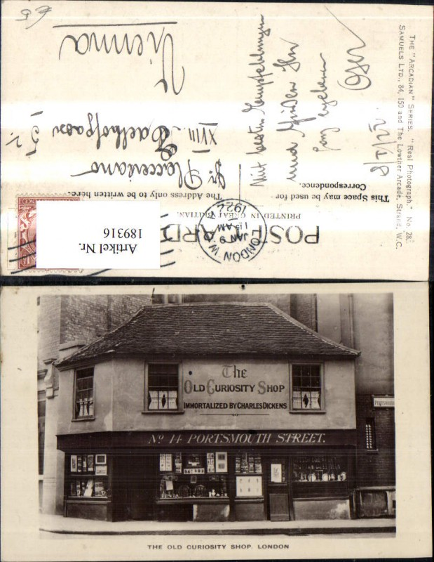 189316,England London The Old Curiosity Shop Portsmouth Street