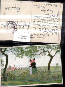 179946,Primus AK 3105 Berthold Clauss Feldblumen Frauen m. Buch Blumen