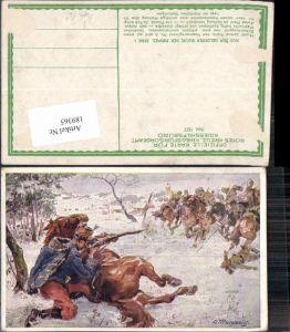 189365,Kriegsfürsorge 197 Künstler AK A. Marussig Husar Samuel Kralik