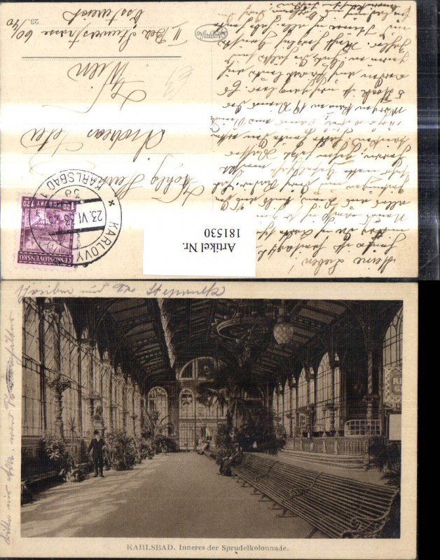 181530,Karlsbad Spurdelkolonnade Innenansicht 0