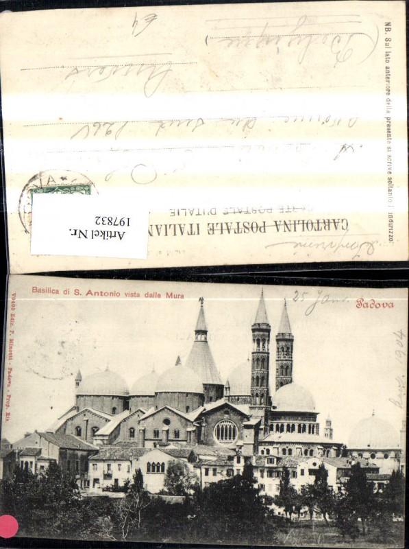 197832,Veneto Padova Padua Basilica d S Antonio vista della Mura Kirche