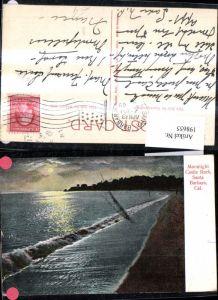 198655,California Santa Barbara Moonlight Castle Rock Mondschein