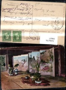 198657,California San Francisco Interior Japanese Tea House Goden Gate Park Innenansicht