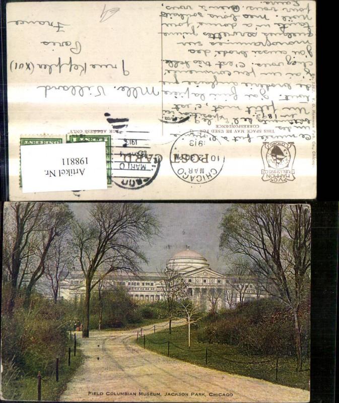 198811,Illinois Chicago Jackson Park Field Columian Museum