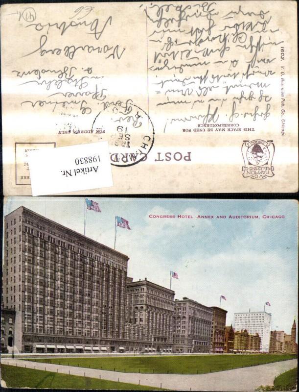 198830,Illinois Chicago Congress Hotel Annex and Auditorium