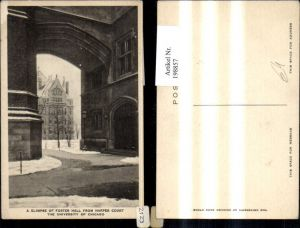 198857,Illinois Chicago A Glimpse of Foster Hall from Harper Court The University of Chicago