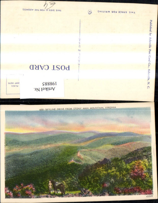 198885,Virginia Skyland Skyline Drive from Stony Man Mountain