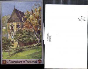 199232,Deutscher Schulverein Künstler E. F. Hofecker Die Weiherburg b. Innsbruck Burg