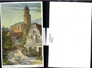 199241,Künstler AK E. F. Hofecker Mährisch Schlesien Sudeten Friedeberg Kirche