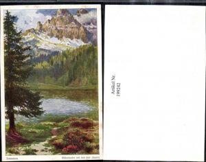 199242,Künstler AK E. F. Hofecker Dolomiten Misurinasee m. d. drei Zinnen