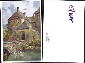 199250,Künstler AK E. F. Hofecker Mährisch Schlesien Sudeten Freitralbau fürstbichschöfliches Schloss