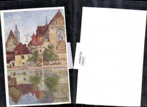 199251,Künstler AK E. F. Hofecker Budweis Partie a. d. Maltsch