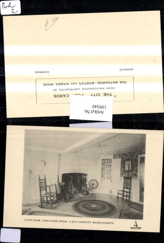 199349,Massachusetts Duxbury Living Room John Alden House 1653 Innenansicht