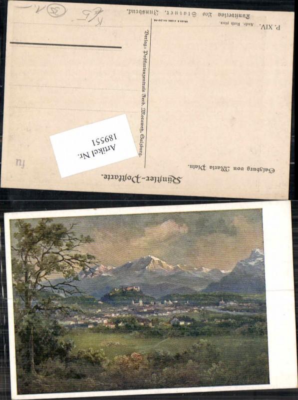 189551,Künstler AK Andreas Roth Salzburg von Maria Plain