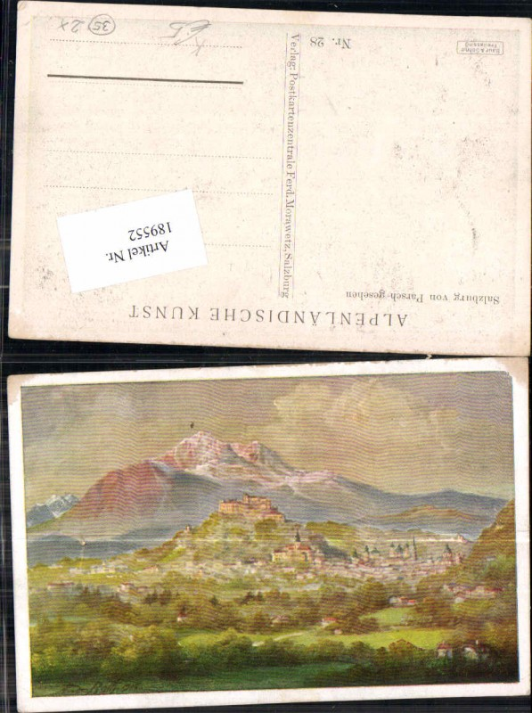 189552,Künstler AK Andreas Roth Salzburg von Parsch