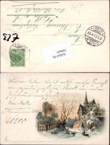 189645,Litho Kirche Sonnenschein Postkarte Ser. II - 99115 pub Winkler & Schorn Nürnberg