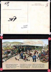 189793,Künstler AK Hans Boettcher Bahnhof Schwäbische Eisenbahn Humor Scherzkarte