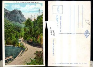 199386,New Hampshire Road through Dixville Notch Strassenansicht m. Automobil