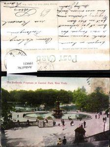 199431,New York City The Bethesda Fountain in Central Park Springbrunnen Brunnen