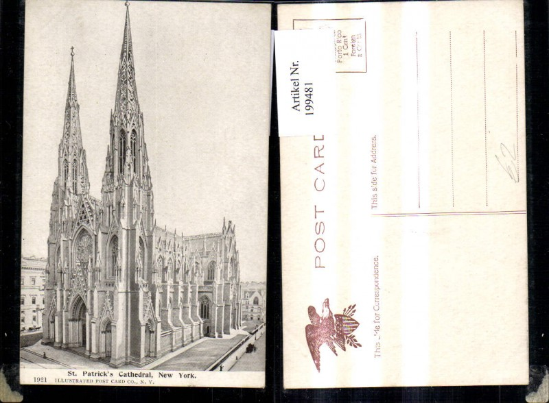 199481,New York City St Patricks Cathedral Kathedrale Kirche