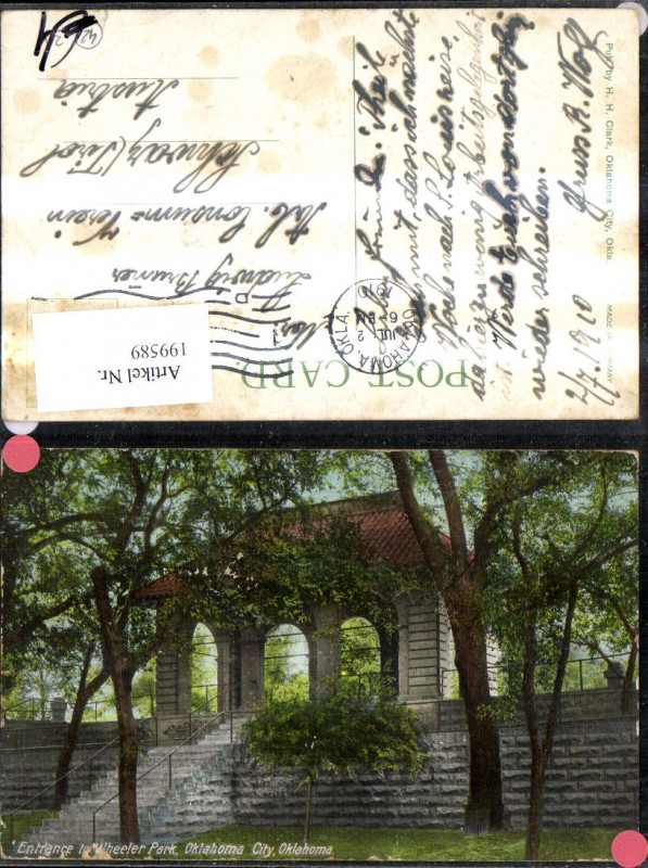 199589,Oklahoma City Entrance to Wheeler Park