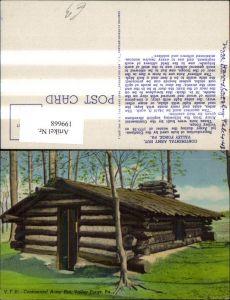 199668,Pennsylvania Valley Forge Continental Army Hut Hütte Blockhaus