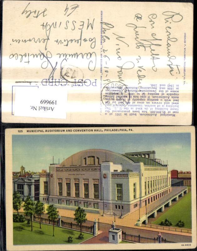 199669,Pennsylvania Philadelphia Municipal Auditorium and Convention Hall