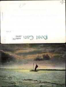 199702,New Jersey Atlantic City A Evening Scene Segelboot Boot