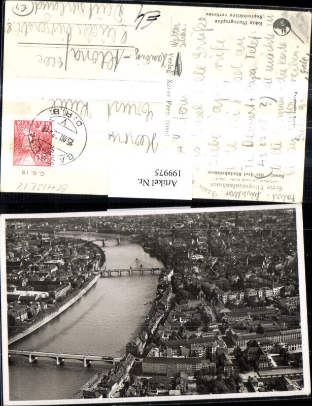 199975,Basel Totale Die 3 Rheinbrücken Brücken Flugaufnahme 26 0