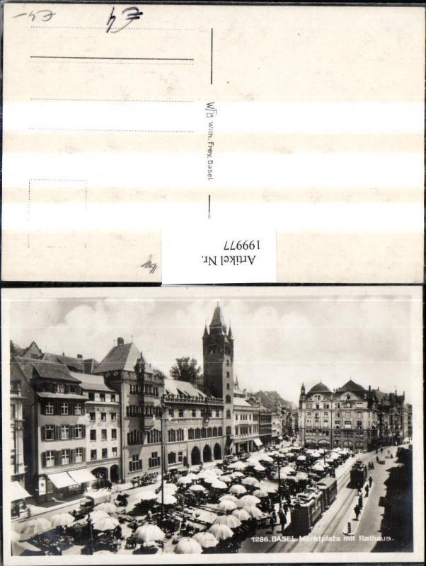199977,Basel Marktplatz Platz m. Rathaus 0